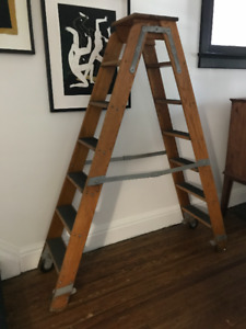 Antique Rolling Ladder