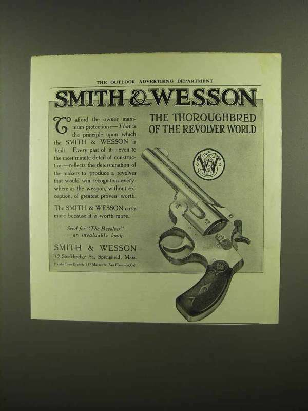 1910 Smith & Wesson Revolver Ad - The Thoroughbred
