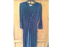 Ladies Navy Blue Fat Face Size 12 Dress