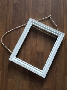 Beautiful Rustic Wooden White Frame