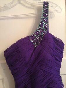 2 Purple Ruffle Tier Asymmetrical, Prom, Bridesmaid Dresses Kitchener / Waterloo Kitchener Area image 5