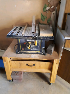 10.inch bench saw and table: 50