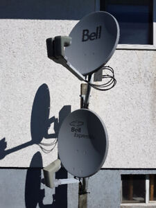 2 Bell satellite dishes
