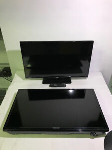 "AS-IS SAMSUNG AND PHILIPS 32"" FHD LED TVS TO FIX OR PARTS - FJN"