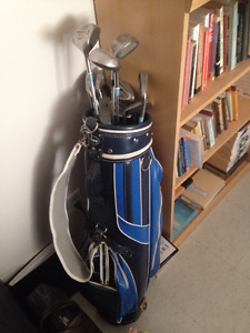 $20, bag with golf clubs