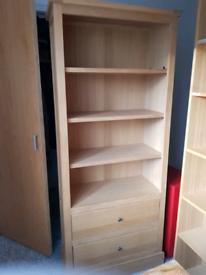 Next Beech two door display cabinet