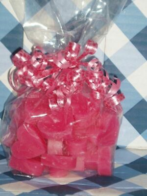 RASPBERRY COTTON CANDY X 30 Candle wax melts heart tarts NEW + FREE - Candy Wax