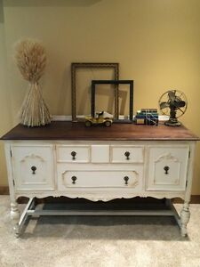 Refinished antique buffet/sideboard