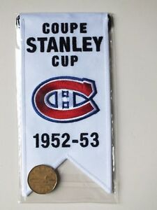 CENTENNIAL STANLEY CUP 1952-53 BANNER MONTREAL CANADIENS HABS Gatineau Ottawa / Gatineau Area image 2