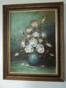 an original oil painting by L. Kupis in a barn board frame