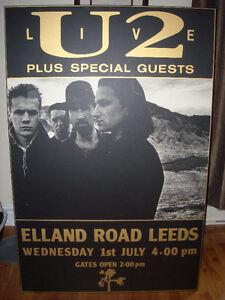 TRÈS GRAND LAMINÉ SPECTACLE DE U2 STADE ELLAND ROAD ANGLETERRE