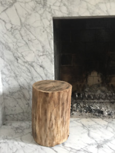 Log stools / side tables