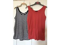 2 X Newlook Maternity Vests - size 10