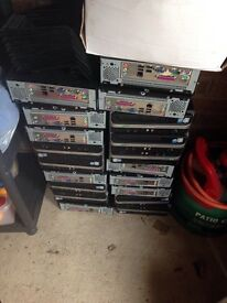 15 mini desktops With stands and power cable. SPARES