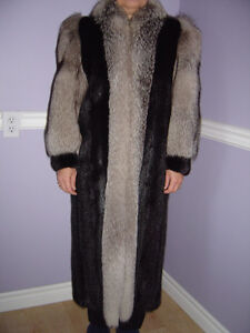 Ranch Mink & Norwegian Blue Fox Coat