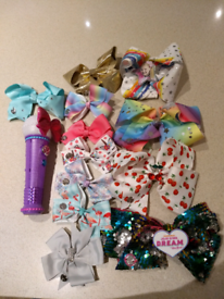 Jojo Siwa bows and microphone for sale