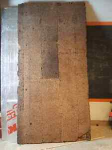 "2 -4 X 8 X 1 "" sheets of  cork glued on 1/2 fir plywood"