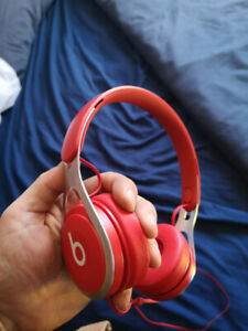 Red Beats Wired Headphones