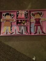 Melissa & Doug magnetic dress up dolls