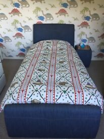 REDUCED Single bed frame and bedside table for sale
