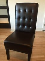 Urban Barn Leather dining chairs