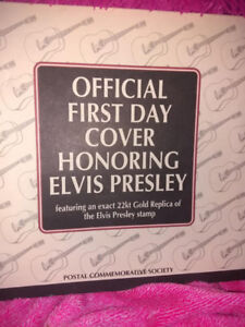 ELVIS PRESLEY 22KT FIRST DAY ISSUE