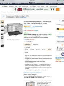 Dog crate , brand new in box ,!!! Never used ,