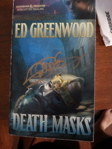 Death Mask by Ed Greenwood and Signed by Ed Greenwood