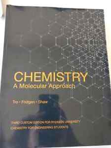 RYERSON ENGINEERING Chemistry, a molecular approach textbook