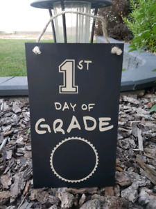 NEW back to school chalkboard signs!
