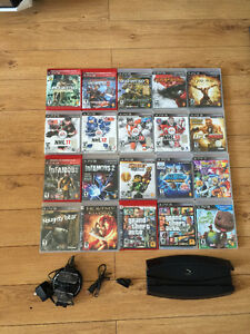 16 PS3 GAMES AND ACCESSORIES FOR SALE