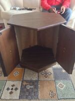 Hexagon side table / lamp table with cabinet $5