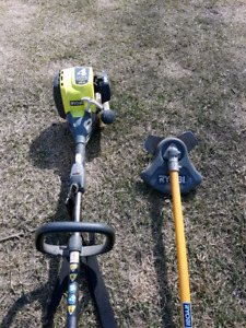 Gas Trimmer and Brusher Attachment