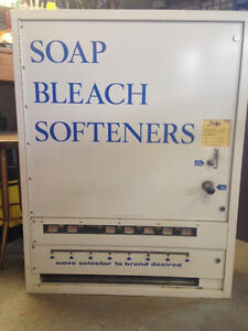 Coin operated soap box dispenser for sale.   Great condition!