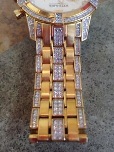 Beautiful whittnauer diamond + crystal watch