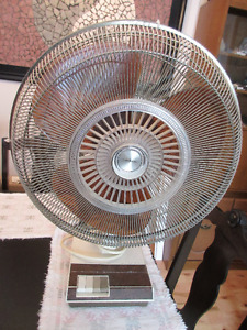3 speed rotating left to right fan