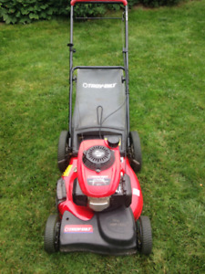 Gas Self-Propelled Lawnmower with Honda Engine & Bag