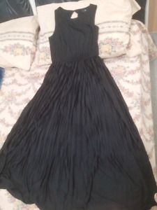 Brand new black toe length size small dress for $30.