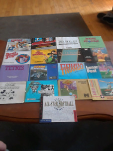 NES manuals and posters