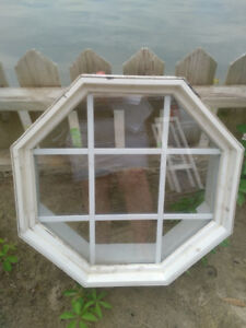 Octagon Window - 24 x 24  for Attic or Bunkie - on Hay Bay