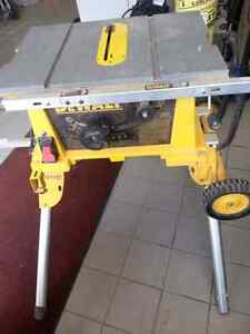 DeWalt table saw with Stand. We sell used tools. Get a Deal!