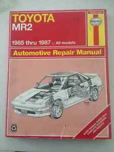 Haynes Toyota MR2 book