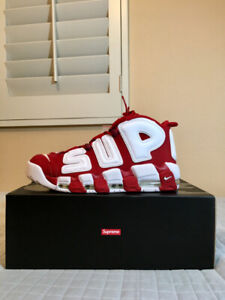 Supreme x Nike Uptempo (Suptempo) Red US Men 10.5 (BNIB)