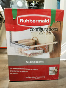 Pieces of Rubbermaid Configurations Closet Organizer