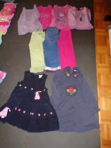 Vêtements pour fille (automne-hiver) 4 ans