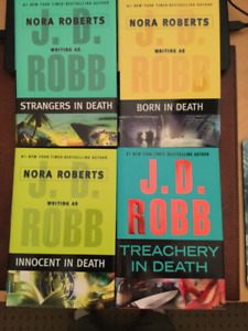 """11 Hardcover Books in the """"In Death"""" Series by J. D. Robb"""
