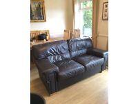 Harvey's Leather 2 Seater Sofa