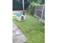 Rabbit hutch & run extension
