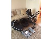 Oyster 2 travel system pram buggy with car seat carrycot stroller maxi Cosi ect