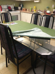 Glass dining table...